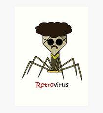 Retrovirus science illustration Art Print