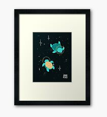 Space Turtles Framed Print