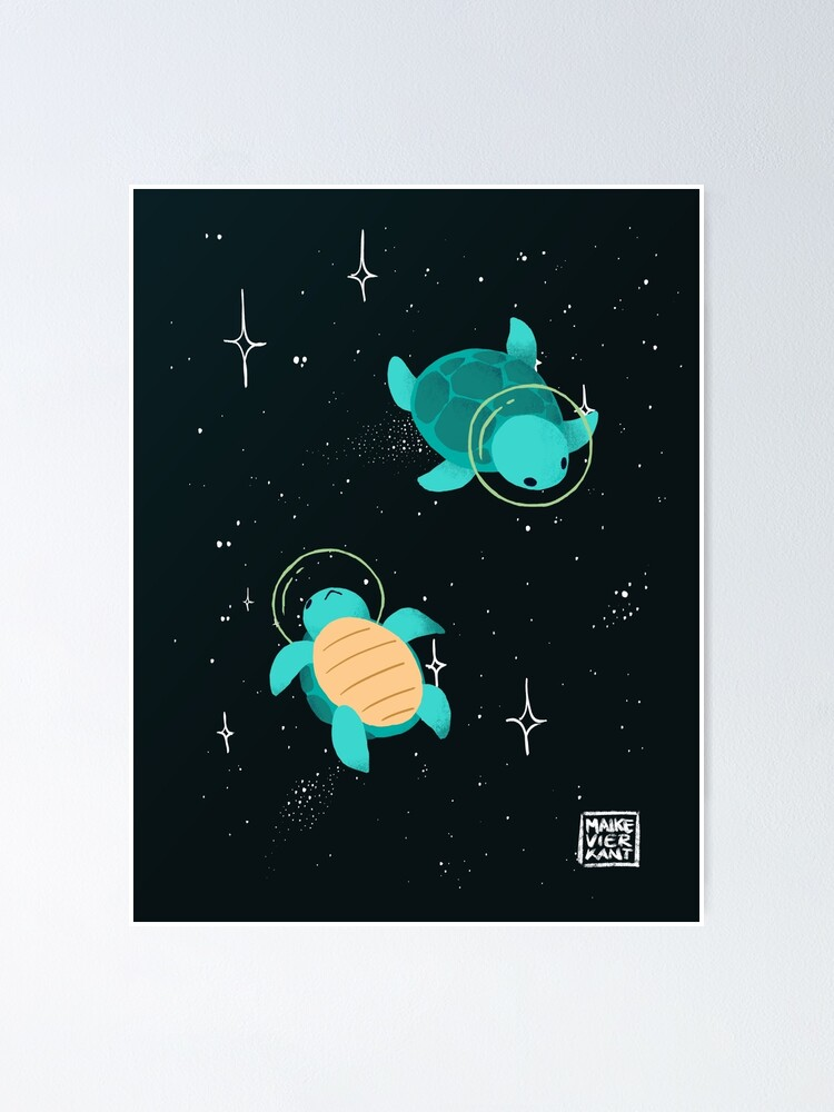 Alternate view of Space Turtles Poster