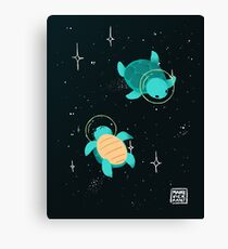 Space Turtles Canvas Print