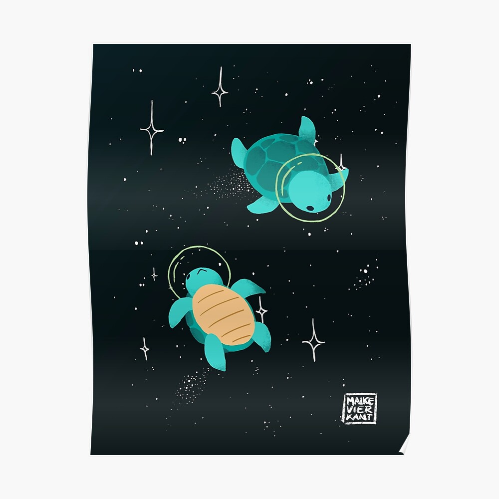 Space Turtles Poster