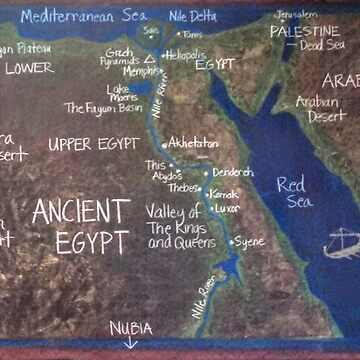 Map of Ancient Egypt by brusling