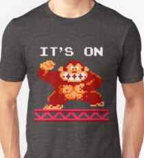 It's on like Donkey Kong (top text) Unisex T-Shirt