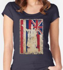 Aloha Shaka King Kamehameha Hawai'i by Hawaii Nei All Day Women's Fitted Scoop T-Shirt