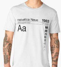 Helvetica Neue Typography Graphic Design Men's Premium T-Shirt
