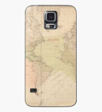 Vintage Map of The World (1897) Case/Skin for Samsung Galaxy