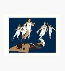 Michigan Game Winner Celebration Art Print