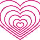 «Forma de corazón rosa multi» de Jodie Andrews