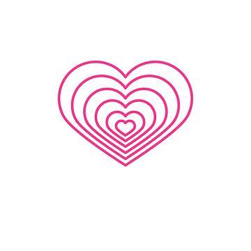 Forma de corazón rosa multi de jashirts