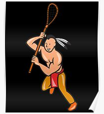 Native American Lacrosse Poster