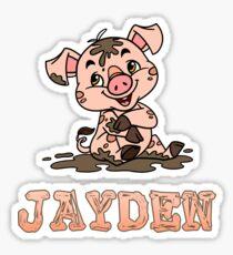 Jayden Piggy Sticker