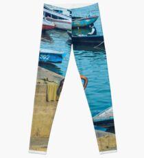 El hombre y las barcas Legging
