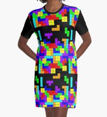 Tetris Making Tetris Fall Graphic T-Shirt Dress