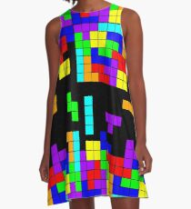 Tetris Making Tetris Fall A-Line Dress