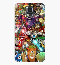 Funda/vinilo para Samsung Galaxy Cartel de Cuphead + Color