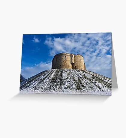 Clifford's Tower, York, in Winter Greeting Card