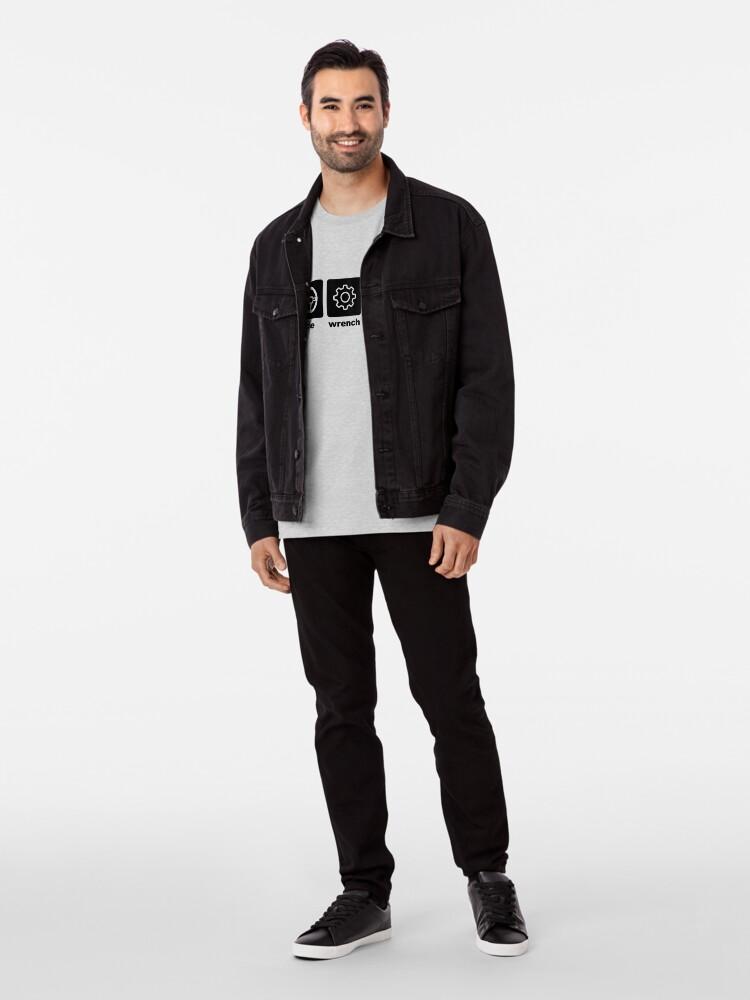 Alternate view of Race-Wrench-Repeat Black Premium T-Shirt