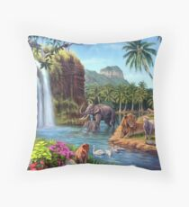 A Paradise Setting Throw Pillow