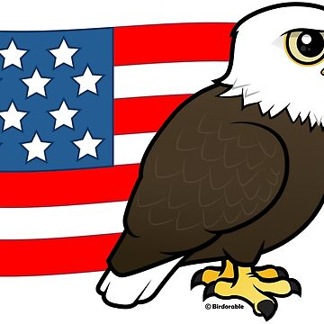Cute Birdorable Patriotic Bald Eagle by birdorable