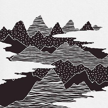 Mountain Peaks by KookiePixel