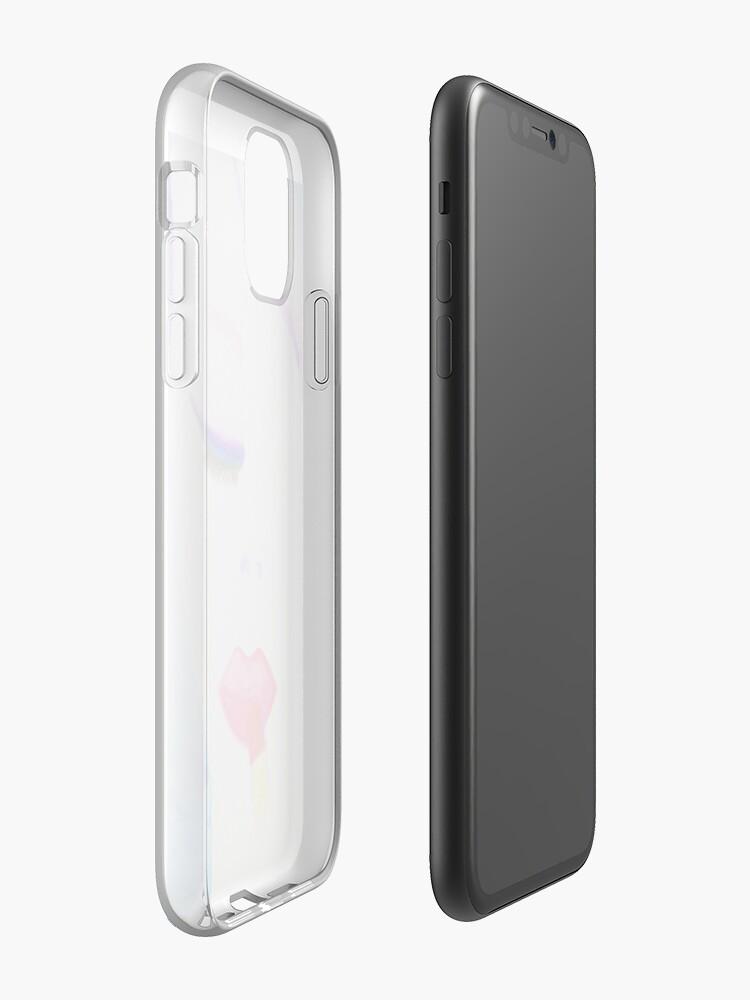 Coque iPhone «Lèvres mystérieuses», par mrslalitea