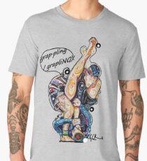 Grappling Game - Jiu Jitsu Art By Kim Dean Men's Premium T-Shirt