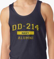 U.S. Navy DD-214 Alumni T-Shirt Distressed Insignia Tank Top