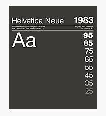 Helvetica Neue Font Typography Graphic Design Photographic Print