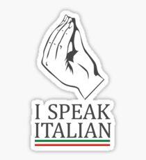 Pegatina Funny I Speak Italian Pride Italia Italia Shirt