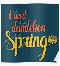 Dandelion in the spring Poster