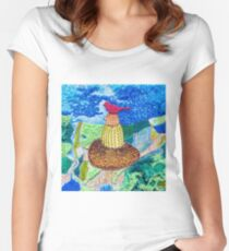 The Red Bird and The Basket Women's Fitted Scoop T-Shirt