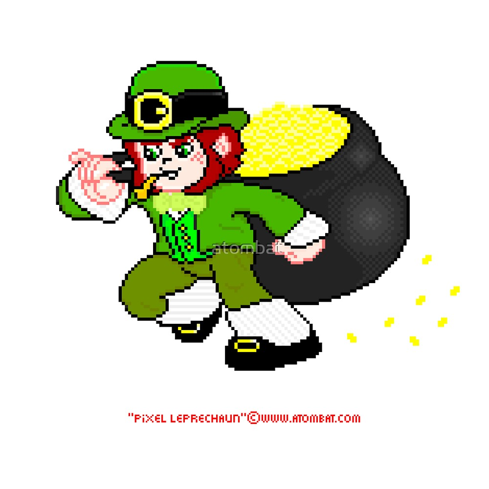 Pixel Leprechaun by atombat