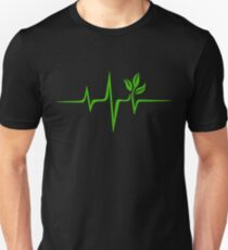 Heartbeat, Pulse Green, Vegan, Frequency, Wave, Earth, Planet Unisex T-Shirt