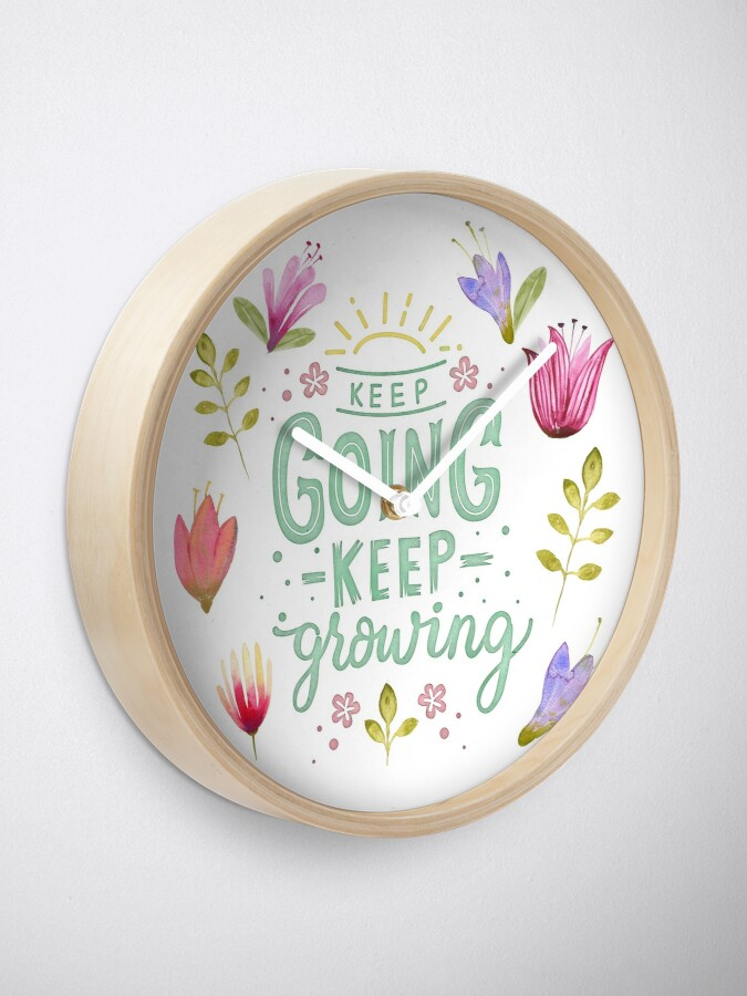 Alternative Ansicht von Keep Going Keep Growing Uhr