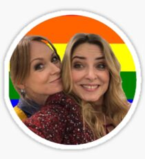vanessa & charity Sticker