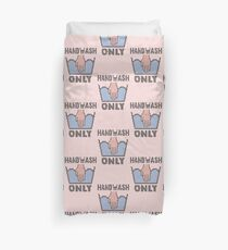 Handwash Only (pink) Duvet Cover