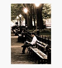 Man in Central Park Photographic Print