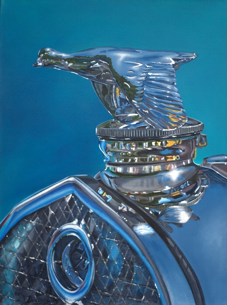 Classic Ford Hood Ornament by Melodie Douglas