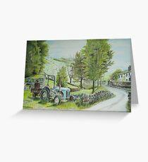 Tractor at Watendlath Greeting Card