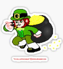Pixel Leprechaun Sticker