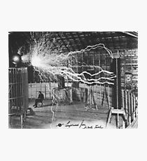 Nikola Tesla Sitting In His Experimental Station Reimagined 1 Photographic Print