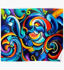 Hurricanes of the Mind Abstract Original Art Poster