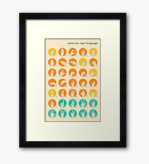 AMERICAN SIGN LANGUAGE HAND ALPHABET Framed Print
