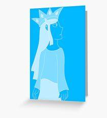 blue monarch Greeting Card