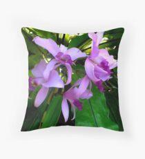 Australian Native Orchids. Throw Pillow