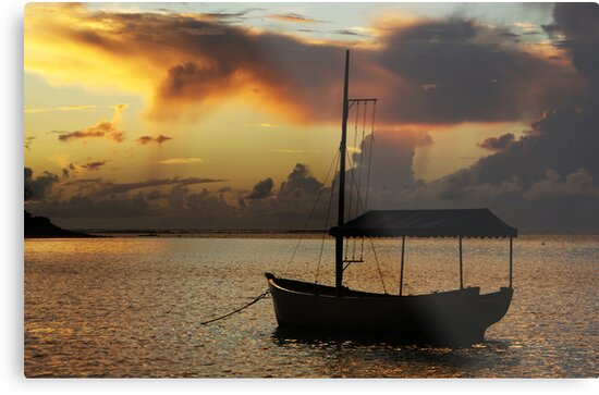 Boat Silhouette by Jenny Dean