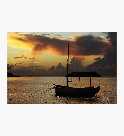 Boat Silhouette Photographic Print