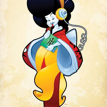Radio Geisha | Vector Art by wardellb