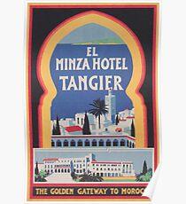 Tangier Hotel Vintage Poster Poster
