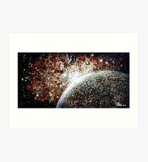 Brown Nebula Art Print